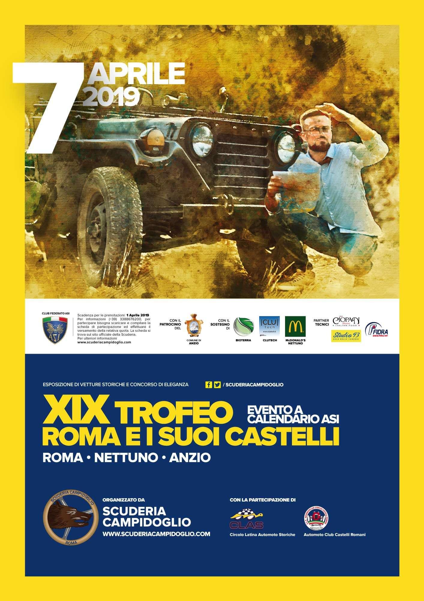 Locandina Ufficiale XIX Trofeo Roma e i suoi Castelli Informazioni Evento