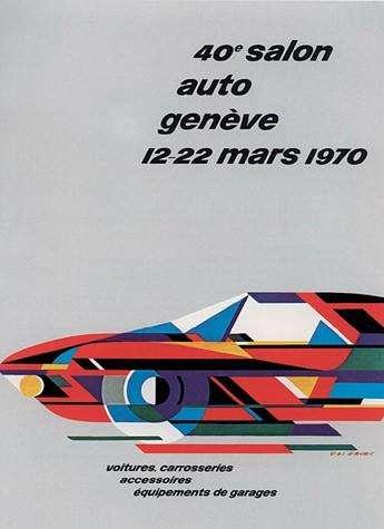 Locandina del Salone di Ginevra del 1970