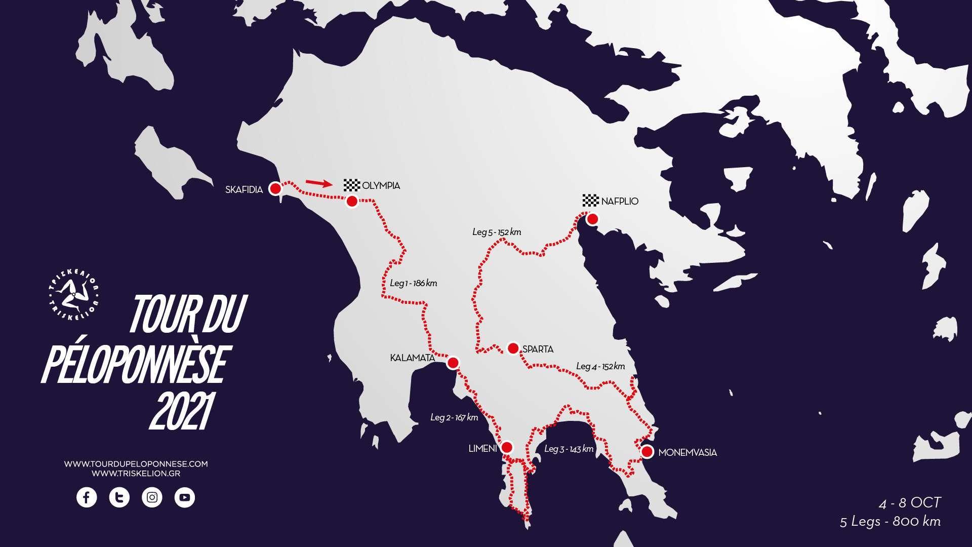 Itinerario del Tour del Peloponneso 2021