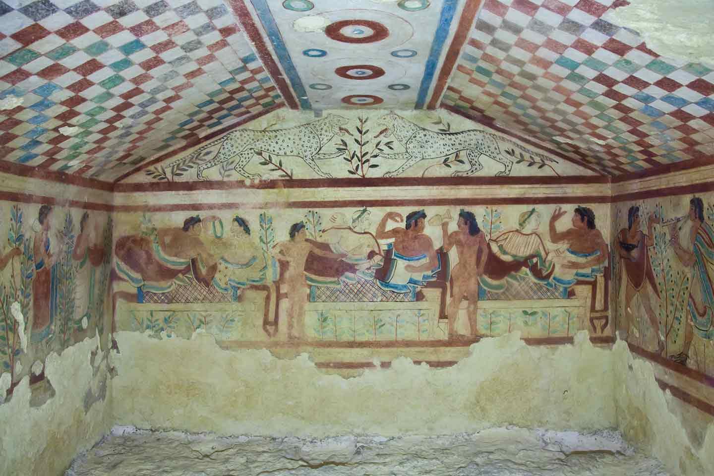 Affreschi Pitture Etruscopolis Necropoli di Tarquinia Raid dei Fantasmi 2021
